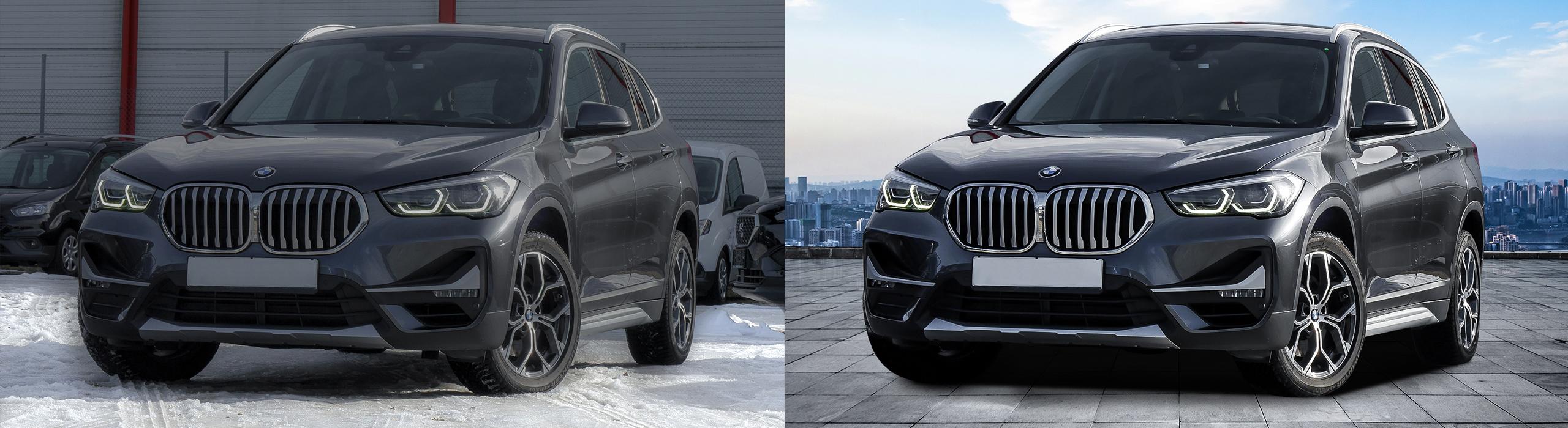 Schnee entfernen Gebrauchtwagen Freisteller-mit_Bildoptimierung